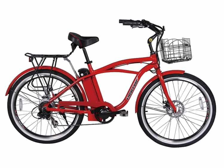 X-Treme Malibu Beach Cruiser Lithium Battery Electric Bicycle