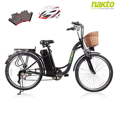 NAKTO SPARK 26 Adult Electric Bicycle for Women