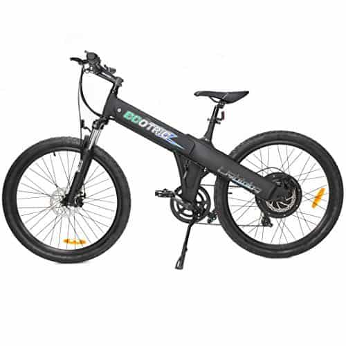 ECOTRIC Aluminum Alloy Electric Bike Matt Black White Electric Mountain Bicycle