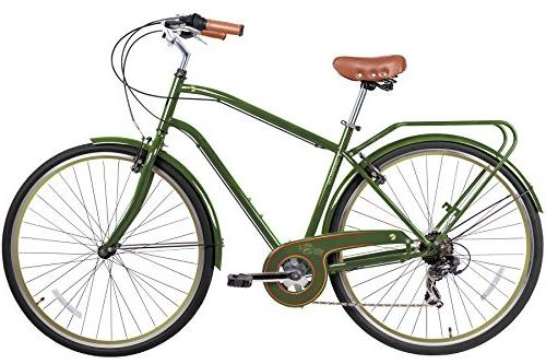 Gama Bikes Men's City 6 Speed Shimano Hybrid Urban Commuter Road Bicycle