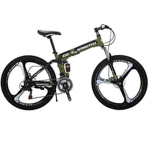 Kingttu KTG6 Mountain Bike 26 Inches 3 Spoke Wheels Dual Suspension Folding Bike
