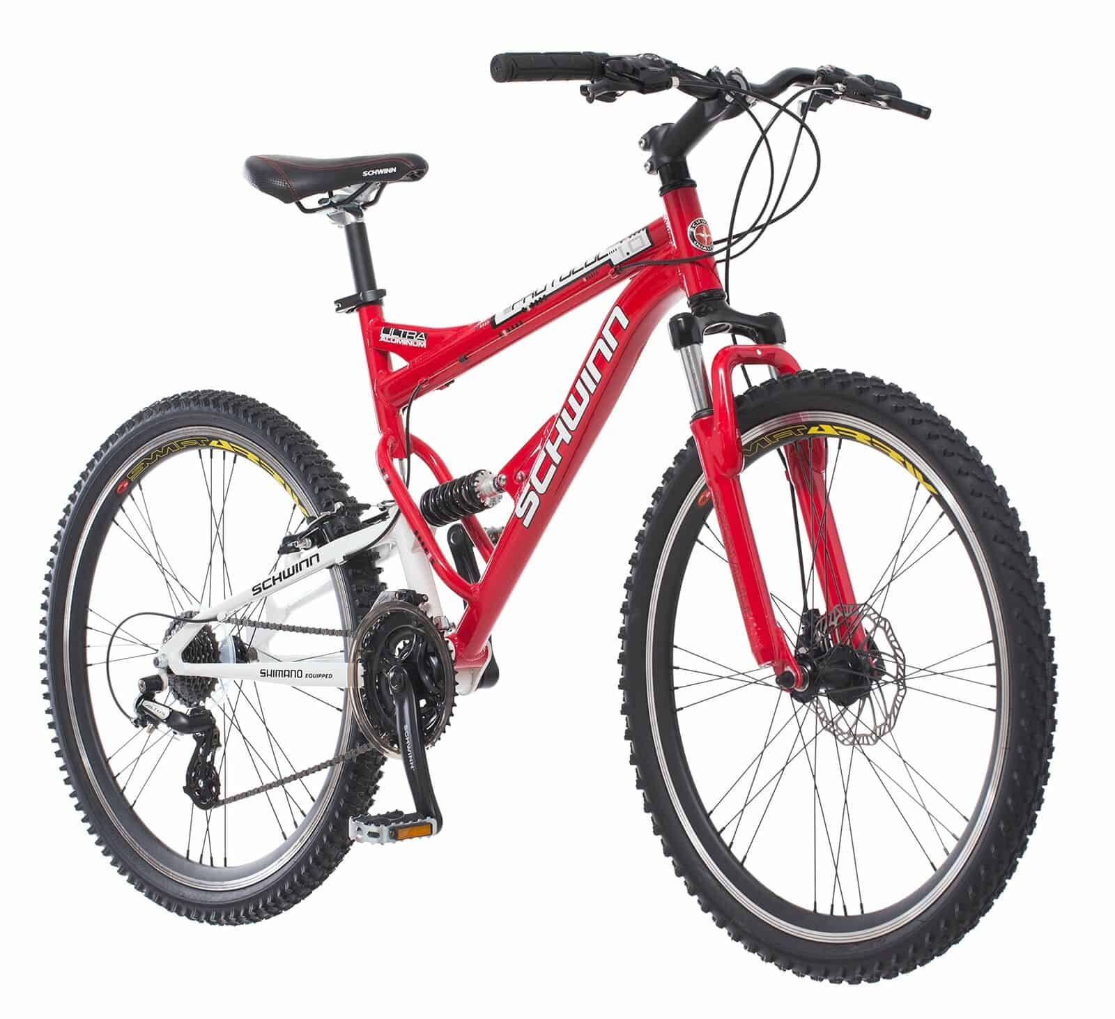 Schwinn Protocol 1.0 Dual-Suspension Mountain Bike with Aluminum Frame 26-Inch Wheels