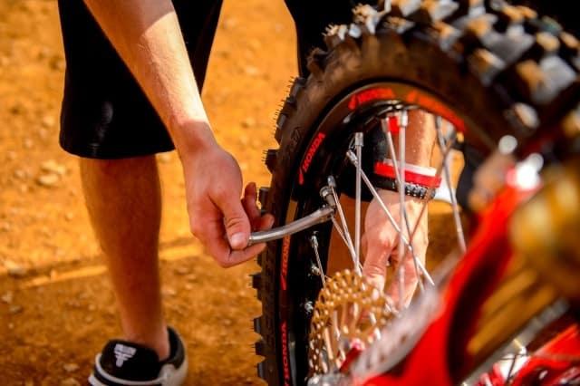 Pit bike maintenance